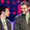 jlh: Chris and Blake smiling at each other (duos: Chris and Blake)