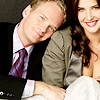 jlh: Barney and Robin, posing with arms around each other (himym: Barney and Robin)