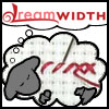 cross_stitch: Dreamwidth sheep with red cross stitches (Dreamwidth Cross Stitch Sheep)