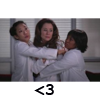 jadelennox: Grey' s Anatomy: Bailey, Cristina, and Dr. Dixon hugging dysfunctionally (grey's anatomy: hug)