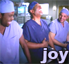 "jadelennox: Grey's Anatomy, ""Joy"":The Chief, Alex, and intern Ryan laugh together about juvenile humor (grey's anatomy: joy)"