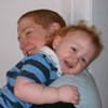 ringthebells: Me and my toddler, hugging. (Default)