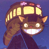 ext_36084: the cat bus from My Neighbor Totoro grinning at you (ghibli; cat bus grin)