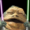 slarti: Slaarti the Hutt, with purple and green lightsabers. (Slaarti the Hutt)