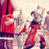 renaissancerevenge: Ezio walking through the dispersed crowd of nobles in the streets [Florence] (Fleeing/Walking/Ignoring)