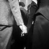 jlh: Man and woman holding hands in handcuffs from The Thirty-Nine Steps (duos: Pamela and Richard in handcuffs)