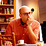 jlh: Mozzie from White Collar sitting and thinking (white collar: mozzie)