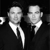 jlh: Chris PIne and Karl Urban in suits (KMc pine urban suited)