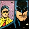 teland: Bruce smirking while Jason wonders what he's doing with his life. (1. Acquire a Robin. 2. Troll.)