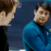 jlh: Kirk and McCoy talking, medium shot (KMc facing off)
