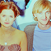 jlh: Draco and Ginny smiling into the camera (DG happy actors)
