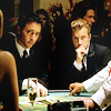 jlh: Danny and Steve in suits at a poker table (duos: Danny and Steve)