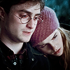 jlh: Harry and Hermione at the Potters' grave (HHr graveside)