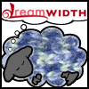 sedge: image of Dreamwidth sheep with a fleece made from blue and green knitting. (knitting)