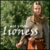 "grlnamedlucifer: Narnia's Lucy, facing down an army with a dagger, captioned ""not a tame lioness"" ([narnia] now all narnia will be renewed)"