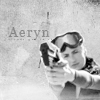 spacerlover: Aeryn Sun (from the TV series 'Farscape') with sunglasses pointing a gun at you. Black/white. (Default)