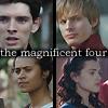veleda_k: Gwen, Morgana, Arthur, and Merlin from Merlin BBC (Merlin BBC- OT4)