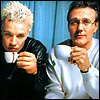 rebcake: Spike & Giles: drinking tea (btvs spiles tea)