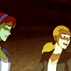 runespoor: artemis and m'gann, in civilian clothes, laughing (yj | idiot teenagers with a death wish)