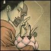 lantern: Art by Kyoko Hagihara (?). (お露。)