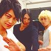 dakedo: (red x blue x green ☆ ikemen sentai)