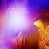 sinecure: Annie kissing Jeff during debate (Community - Jeff/Annie kiss in purple by)