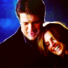 jlh: Castle and Beckett arm in arm laughing (castle: Castle and Beckett)