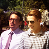 jlh: Steve and Tony in casual clothes (avengers: Steve and Tony)