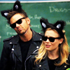 jlh: Jeff and Britta in their cool cats costumes (community: Jeff and Britta)