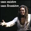 skygiants: Clopin from Notre-Dame de Paris; text 'sans misere, sans frontiere' (comment faire un monde)