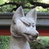 tapas: Stone fox from a temple in Kyoto. (fox)