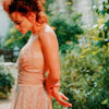 shakingirony: HBC in a pink dress in a garden (Helena-pink dress)