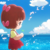 pinokosthewife: Pinoko solemnly standing while holding a four-leafed clover in her hands (the melody of dreams;)