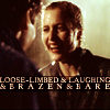tree: scully laughing in the rain; text: loose-limbed & laughing & brazen & bare ([xf] a flame in two cupped hands)