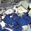 pandoraculpa: (FMA- Roy hard at work (asleep))