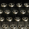 klgaffney: a cropped picture of an old fashioned typewriter's keys. (this thing of ours.)