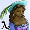 viesti: Lambda, my Puzzle Pirates character (yarrr! (Sadie))