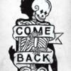 "nightbird: illustration, skeleton, ""come back"" (my little peace of mind)"