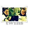 "alixtii: Annie and Hallie. Text: ""Twins."" (twincest)"