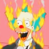 bossymarmalade: krusty the clown loves being on fire (feeling my flesh melt is faboo!)