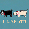 tree: a drawing of one dog sniffing another; text: i like you ([else] i just like this icon)