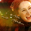 "tree_and_leaf: Eowyn, tight image of dirty face, yelling.  Caption ""I am no man"" (Eowyn - no man am I)"