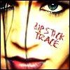 carmilla: A close up of Brian Molko's face.  Caption reads 'Lipstick trace' (Glam rock)