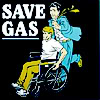 simonejester: girl dinking on dude's wheelchair ([disability] save gas)