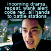 simonejester: bsg Gaeta: incoming drama, repeat, wank alert code red, all hands to battle stations ([bsg] wank alert code red)