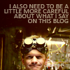 simonejester: dr. horrible: I also need to be more careful about what I say on this blog ([text] need to be more careful)