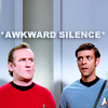 simonejester: DS9 Bashir and O'Brien in TOS Enterprise turbolift, text: *awkward silence* ([st:ds9] bashir o'brien awkward silence)