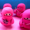 pennyroyal: Tiny pink plush ninjas (Stealthy like a ninja)