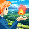 skygiants: Sophie from Howl's Moving Castle with Calcifer hovering over her hands (a life less ordinary)