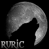rurics_den: Silhouette of a wolf howling at the moon (Ruric - moonwolf)